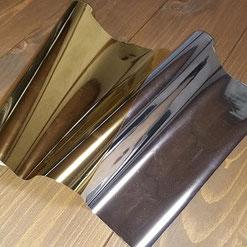 箔押し加工で使用する金箔と銀箔