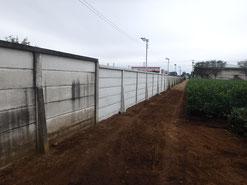 多摩地区万年塀設置工事万年塀解体撤去工事