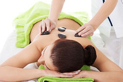 Hot Stone Massage Rücken