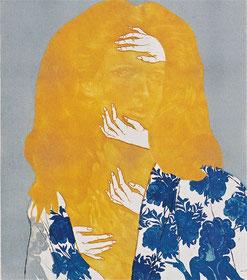 五番街 A (1971)           メゾチント・エッチング他 / 36x31cm