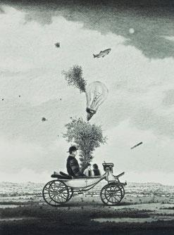 荷馬車 (2012)   鉛筆 / 14.7x10.9cm