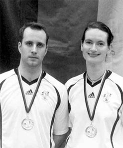 Silke von Rüden und Tobias Haumann sind Deutscher Vizemeister 2007