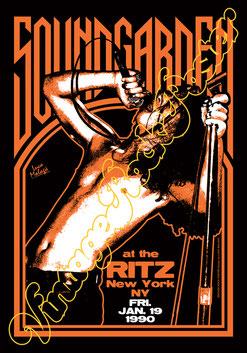 soundgarden, soundgarden poster, soundgarden concert, grunge music, chris cornell