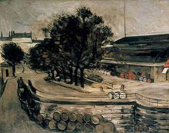 La halle aux vins peinte par Paul Cézanne