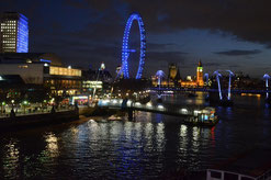 Themseufer mit London Eye