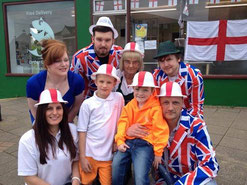 Celebrating St. George's day and raising £805 for Sam's Haven