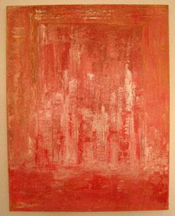 Silhouette in Rot-Orange, 90 x 60 cm