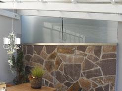 Sichtschutz und Windschutz Edelstahl Terrasse