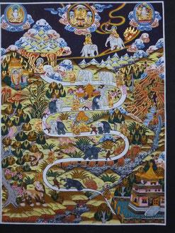 (チベットの牧象図)