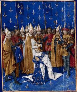 Sacre de Charles VI par Jean Fouquet.http://expositions.bnf.fr/fouquet/grand/f051.htm, https://commons.wikimedia.org