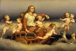 Freya auf ihrem von Katzen gezogenen Wagen von Nils Blommér