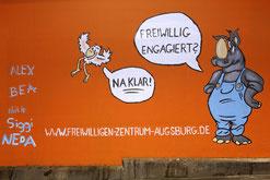 "Gemälde Augsburger Kunsttunnel ""Pferseer Unterführung"" - Foto: Norbert Liesz - Freiwilligen-Zentrum Augsburg"