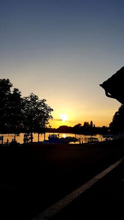 Sonnenuntergang in Stein am Rhein