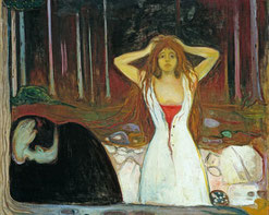Edward Munch, Asche 1894