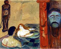 E. Munch, Eifersucht im Bad, 1896