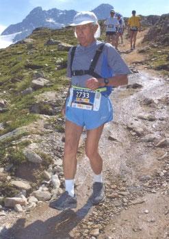 Werner Sonntag beim Swiss Alpin Marathon, Davos