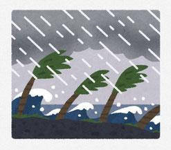 台風 イラスト