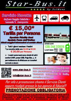 Locandina Navetta Lamezia Terme aeroporto - Reggio Calabria