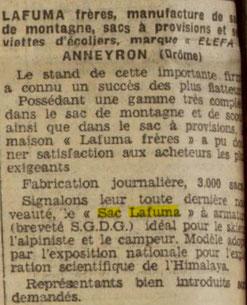 Extrait de la Dépêche du 19 mars 1936 au sujet de la foire de Lyon