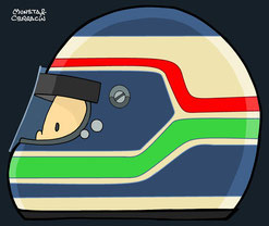 Helmet of Gianmaria Bruni by Muneta & Cerracín