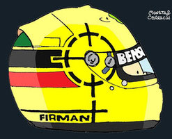 Helmet of Ralph Firman  by Muneta & Cerracín
