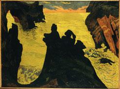 Georges Lacombe, La mer jaune, vers 1892, huile sur toile, collection musée des beaux-arts de Brest.