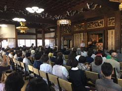 6月16日 満堂となった島田洋七さんの講演会