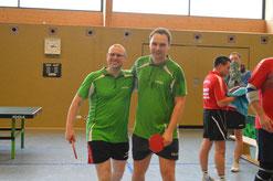 S. Bemme und K. Böhm holten den ersten Punkt für Ferdi in der Verbandsliga.