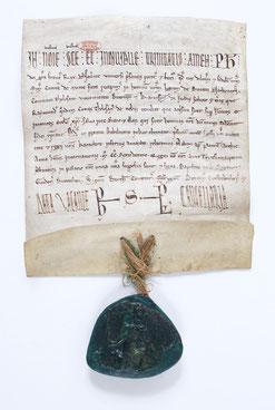 Paris, Archives nationales, AE II 209 (ancien J 980, n°18), supplément du Trésor des Chartres. Parchemin. 21.5 x 19 cm.
