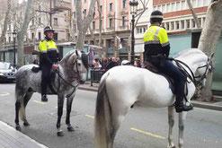 Barcelona, Rambla, berittene Polizei