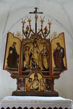 Gotischer Flügelaltar der Kapelle St. Martin, Brigels