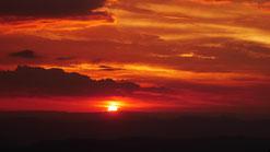 Sonnenuntergang im Alpine National Park