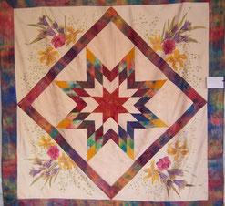 Armelle Soie, quilt, silk, handpainted, patchwork, pure silk