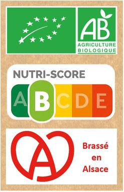 kéfir certifié bio, organic, fabriqué en alsace, pauvre en sucre, pour des bienfaits sur le microbiote intestinal