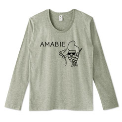 つっぱりアマビエ君1-スタイリング中-長袖Tシャツイラストデザイン
