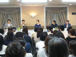 左から 古沢良太さん、西田征史さん、金子ありささん、NHK木村隆文さん、NHK石塚嘉さん