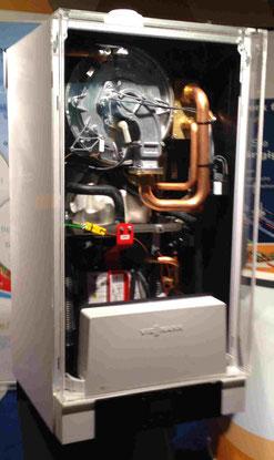 Micro Bhkw Kombination zwischen Brennwert Gasheizungs- Wandgerät und Sterling Bhkw in der 1 kw elektrischer Leistungsklasse. Zusammenspiel Wärme Effizienz und eigener Grundlast Strom.   Remeha eVita