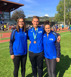 Hanna Störke, Moritz und Benita Höckele spielen für den STB  beim Jugendeuropapokal 2018 in der Altersklasse U18