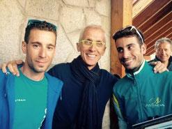 Foto courtesy: Paolo Viberti. Alla vigilia della Vuelta 2015 in compagnia di Aru e Nibali