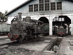 Remise der Ambarawa-Bahn, Copyright 2011 by Klaus Schoerner