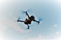 Drohne mit Wärmebildkamera (rot)