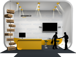 IT-Jobmesse: Messestand von Amazon