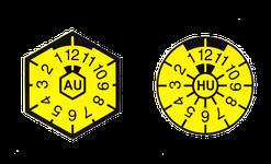 Abbildungen der HU und AU Plaketten