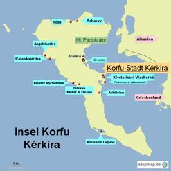 Bild: Karte von Korfu