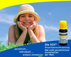Homeda Körper Substanz Verdünnung, kurz KSV genannt, ist ein  homöo-isopathisches Arzneimittel, auf der Basis körpereigener Substanzen (Eigennosoden).