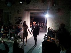 Défilé de mode au Château la Hitte à côté d'Agen