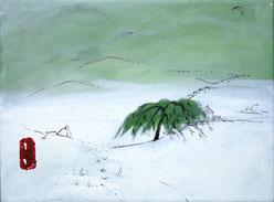© Lisa Keuerleber, See, 2017, Öl und Filzstift, 40 x 30 cm