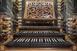 Console de l'orgue de Marienmünster