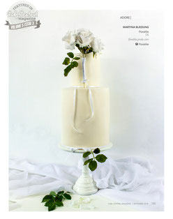 White Wedding Cake | Floralilie