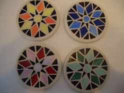 Geometric Stained Glass Mosaic Coasters